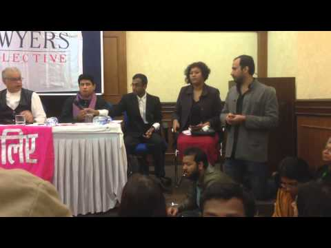 Gautam Bhan at the Section 377 Verdict Press Conference by Lawyers Collective.