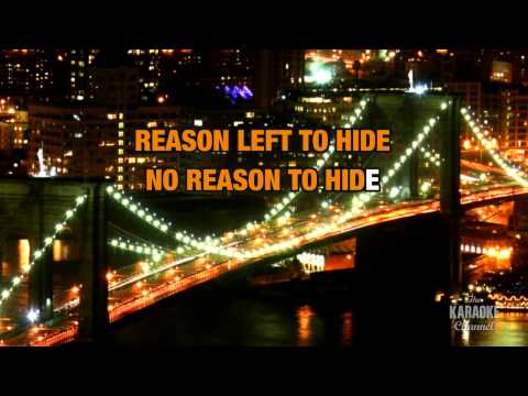 Hide in the style of Creed | Karaoke with Lyrics