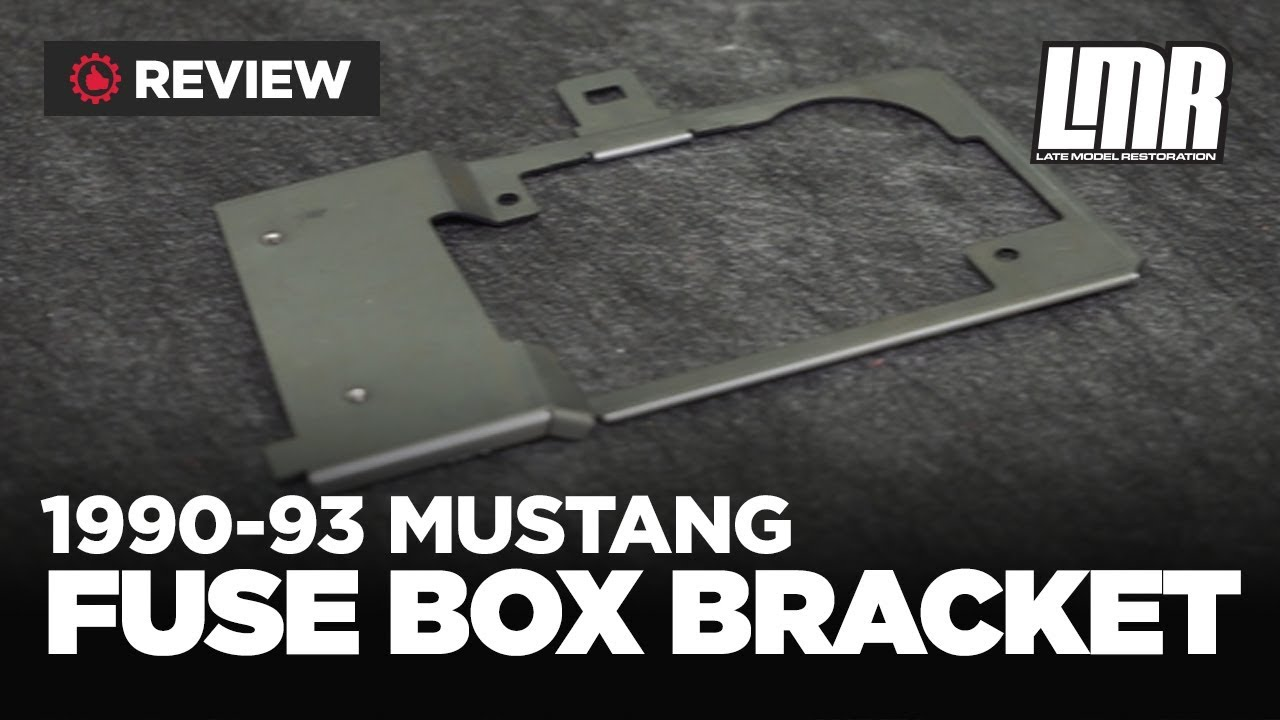 hight resolution of 1990 1993 fox body mustang 5 0resto fuse box bracket review