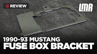 1990-1993 fox body mustang 5.0resto fuse box bracket - review - youtube  youtube
