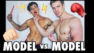 MODEL vs MODEL: Epic Fitness Challenge with Brett Maverick