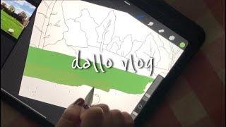 [vlog] 아이패드 그림 직접 프린트하기, 프로크리에…