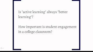 UMD Blended Learning Video: Stasis Theory Part 2