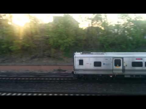 Metro North Harlem Line: Bombardier M7A Local Soutbound EMU Train @ Tuckahoe