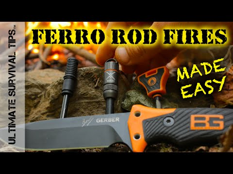 How to Start a Fire with Firesteel / Ferro Rod / Flint and a Knife - DYI Survival Basics