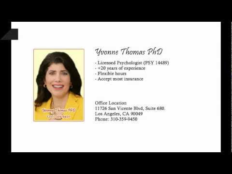 Marriage Counseling Los Angeles (310) 359-9450 | Psychologist Dr. Yvonne Thomas Ph.D.