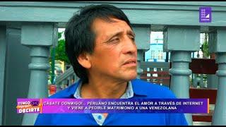 Peruano encuentra el amor a través de internet y viene a pedi…