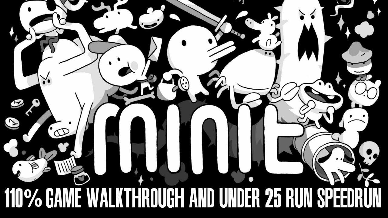 MINIT 110% Game Walkthrough and Under 25 Run Speedrun!