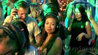 Silent Party Clubbing with Headphones in Europe.