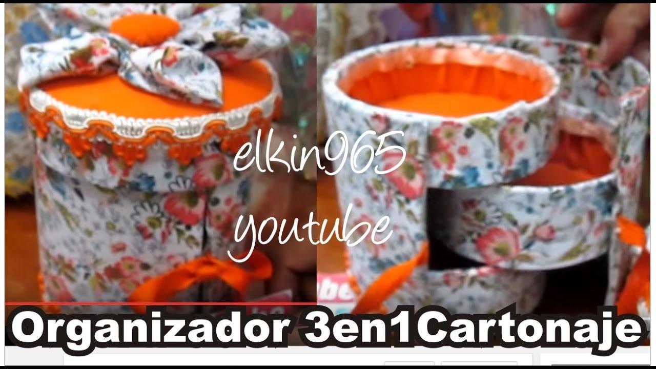 Organizador De Baño En Tela Paso A Paso: cilindro 3 en 1 forrada en tela Día de la madre 2013 – YouTube