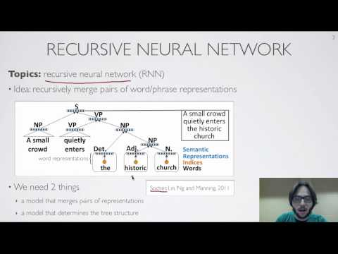 Neural networks [10.11] : Natural language processing - recursive network