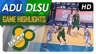 adu vs dlsu   game highlights   uaap 80 men s basketball   sept 20 2017