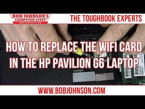 How to Replace the WIFI card in the HP Pavilion G6 Laptop