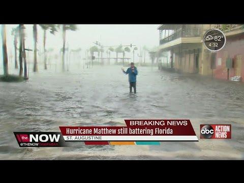 Hurricane Matthew battering St. Augustine
