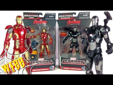 Marvel Legends IRON MAN MARK 43 vs WAR MACHINE Action Figure Review