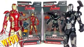 Marvel Legends IRON MAN MARK 43 vs WAR MACHINE Action Figure Review