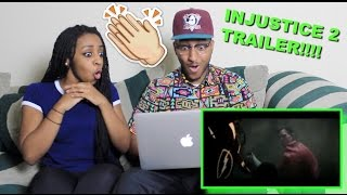 Couple Reacts : Injustice 2 Announce Trailer Reaction!!!