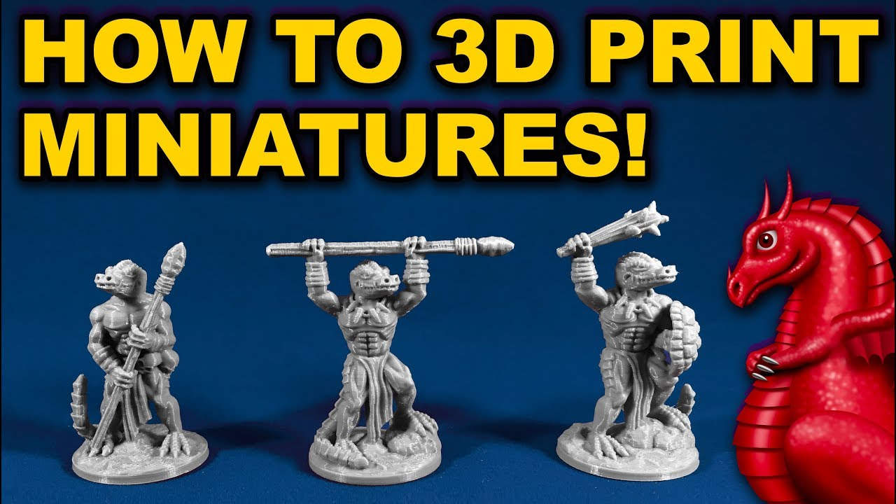 photograph regarding Free Printable Minis named How towards 3D print miniatures upon a FDM printer