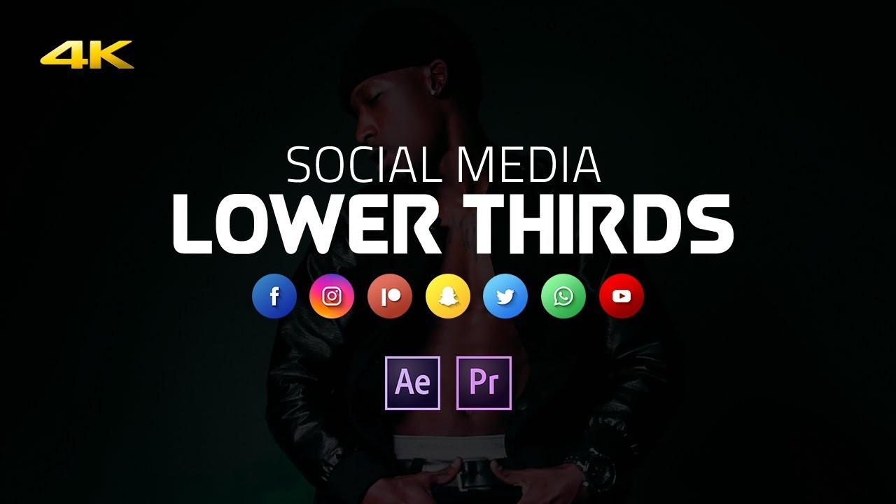 Free Lower Thirds Template For Premiere Pro After Effects Templates Works With 4k
