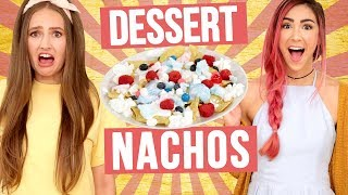 DESSERT NACHOS CHALLENGE?! Wheel of Food w/ Cassie Diamond & Courtney Randall
