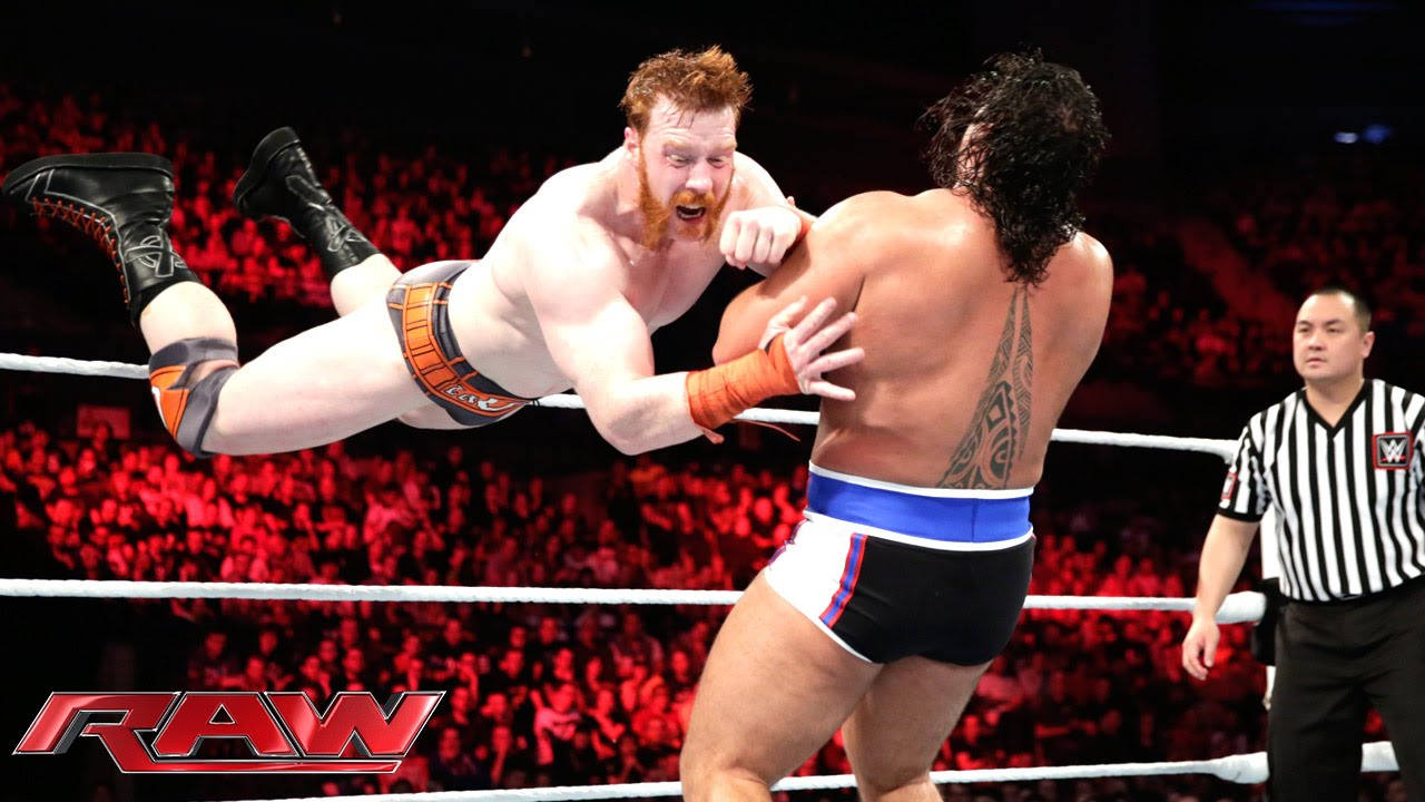 Sheamus vs Rusev  United States Championship Match Raw