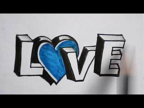 """Letter designing the word """"LOVE"""" 