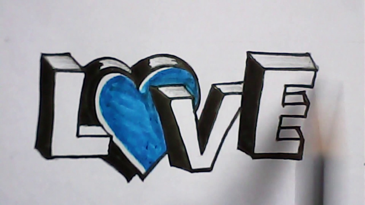 Letter Designing The Word Love Art Andigraphy Mazic Writer