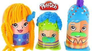 Play-Doh Crazy Cuts Hair Designer Family Pack! Mrs. Play Doh Anna Style Hair Toys by DCTC