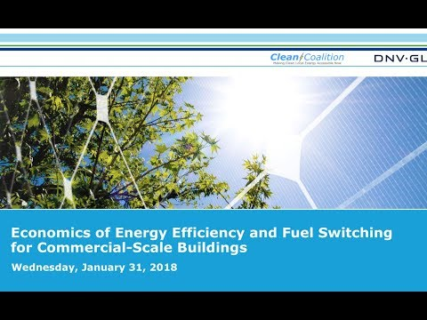 Economics of energy efficiency and fuel switching for commercial scale buildings [WEBINAR] - 1/31/18