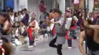 高知よさこい祭りで踊る広末涼子さん。 とても上手に踊っていました。 ...