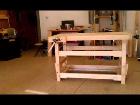 Banco de trabajo con ruedas abatibles youtube - Como hacer un banco de madera ...