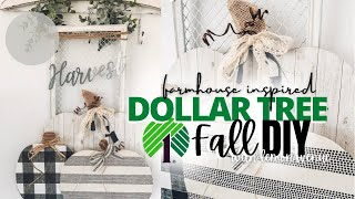 DIY Farmhouse Inspired Fall Decor | DIY Dollar Tree | Fall Decor | Dollar Tree Pumpkins Fall Sign