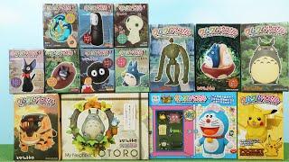 クムクムパズル 14種類 となりのトトロ、ラピュタ、カオナシ、ドラえもん、ピカチュウ 3D Jigsaw puzzle