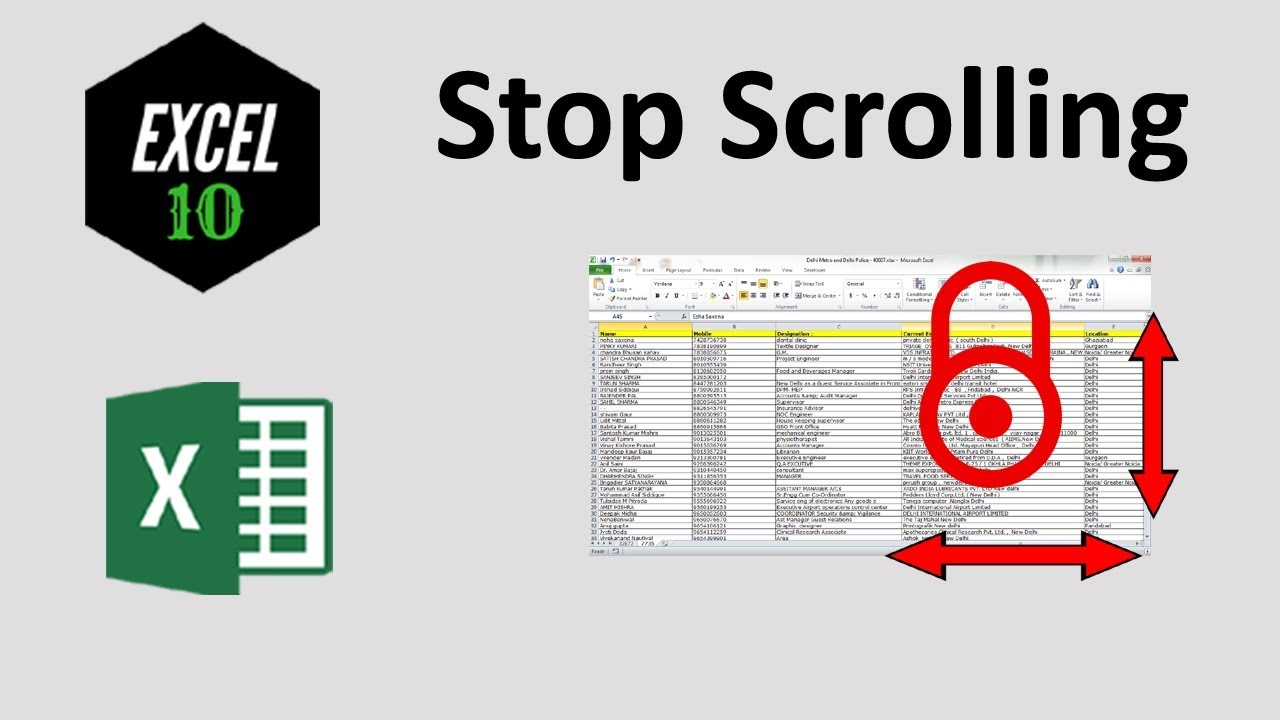 How To Lock Screen To Prevent Scrolling In Excel Worksheet Youtube Lock excel spreadsheet from scrolling