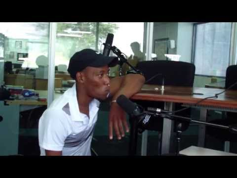 Lucas Sithole South African wheenchair tennis champion in studio