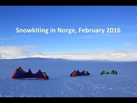 Snowkiting Haugastøl, Hardangervidda-Nationalpark, Norge, February 2016