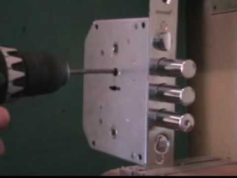 Высверливание BORDER Взлом замка BORDER, методом высверливания.  Взлом замка BORDER, методом высверливания.