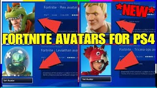 WIE NEUE FORTNITE AVATARS! PS4 FREE AVATARS! (Rex, jonesy, Leviathan, Tricera)