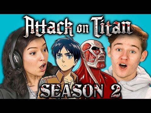 Teens React to Attack on Titan Season 2 Trailer