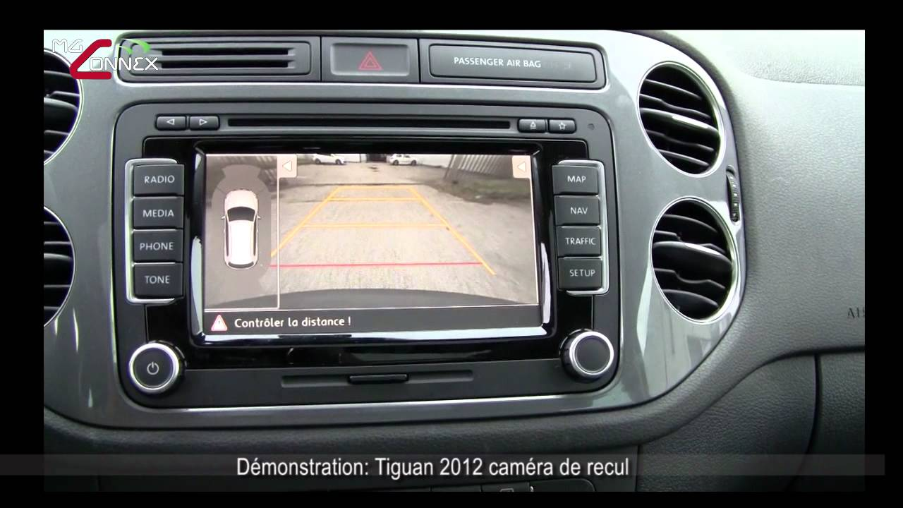 tiguan 2012 camera de recul avec assitant aux stationnements mg connex youtube. Black Bedroom Furniture Sets. Home Design Ideas