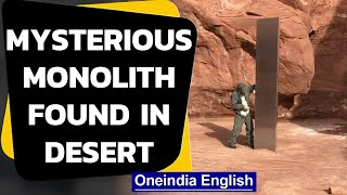 Mystery metal monolith found in Utah desert | Who put it there? Oneindia News