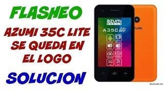 AZUMI 35C LITE SE QUEDA EN EL LOGO (SOLUCION)