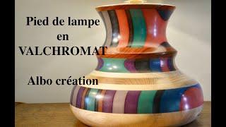 TOURNAGE PIED DE LAMPE EN VALCHROMAT - 395