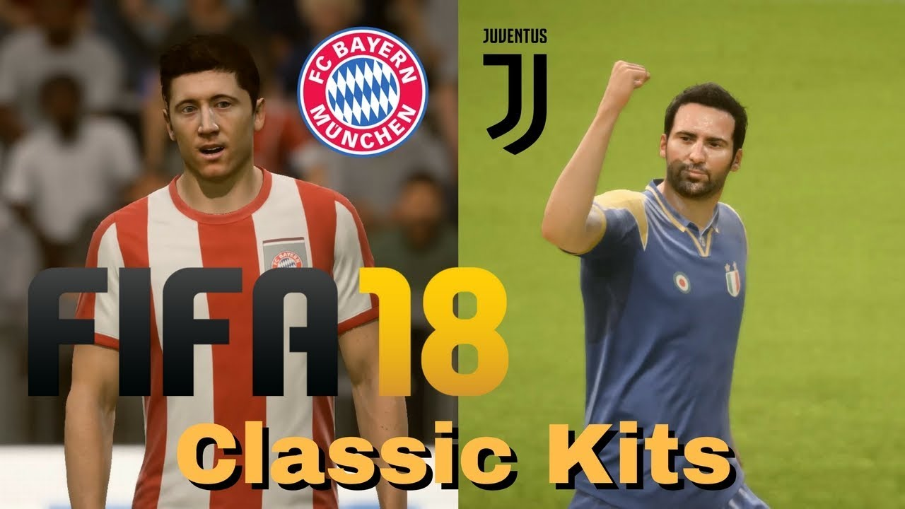 new products 5a10c 88a20 FIFA 18 - Classic Kits - Bayern Munich vs Juventus at Allianz Arena - FIFA  18 PC Gameplay HD 1080p