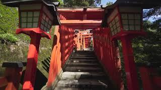 4k 2017 夏 島根県・津和野町・太皷谷稲成神社を歩く(Walking Taikodani-inari-jinja Shrine in Shimane Prefecture Japan)