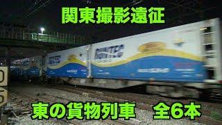 【貨物列車】関東遠征 聞き応え抜群!大迫力のジョイント音 熱海駅と花月園前で貨物列車 全6本
