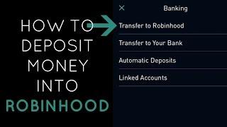 How to deposit money into Robinhood account | Robinhood App