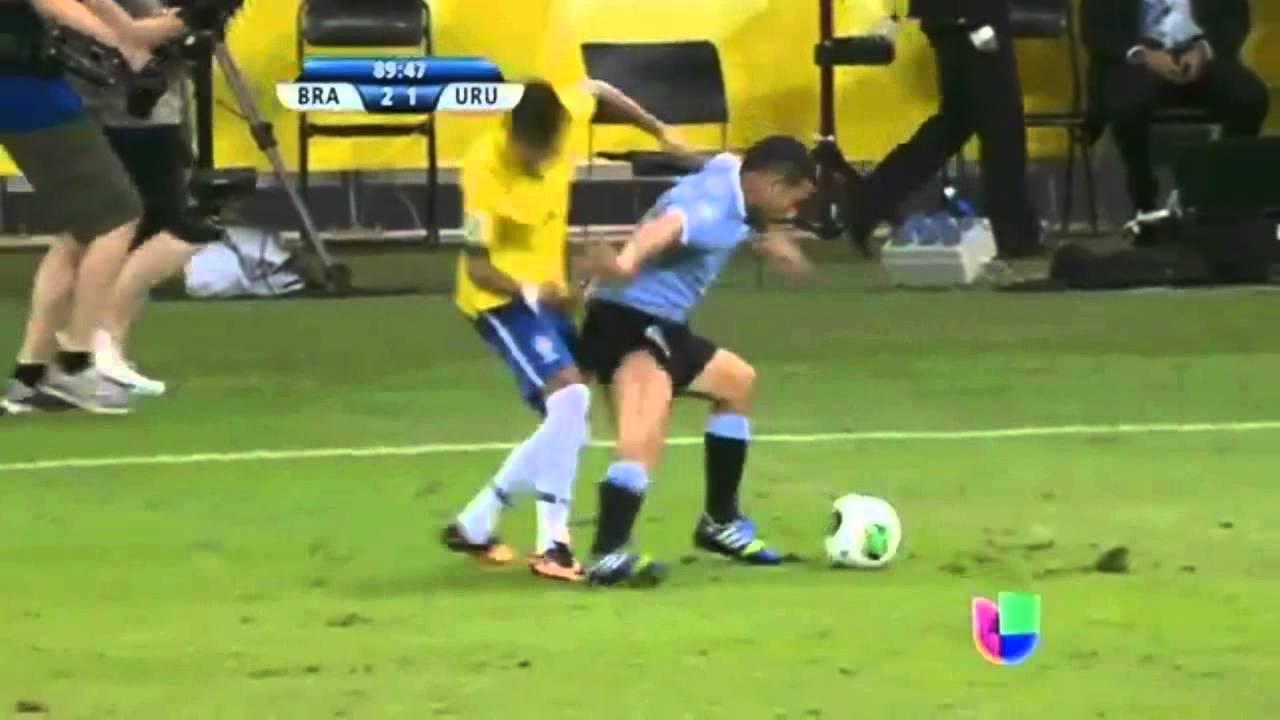 neymar dive vs uruguay