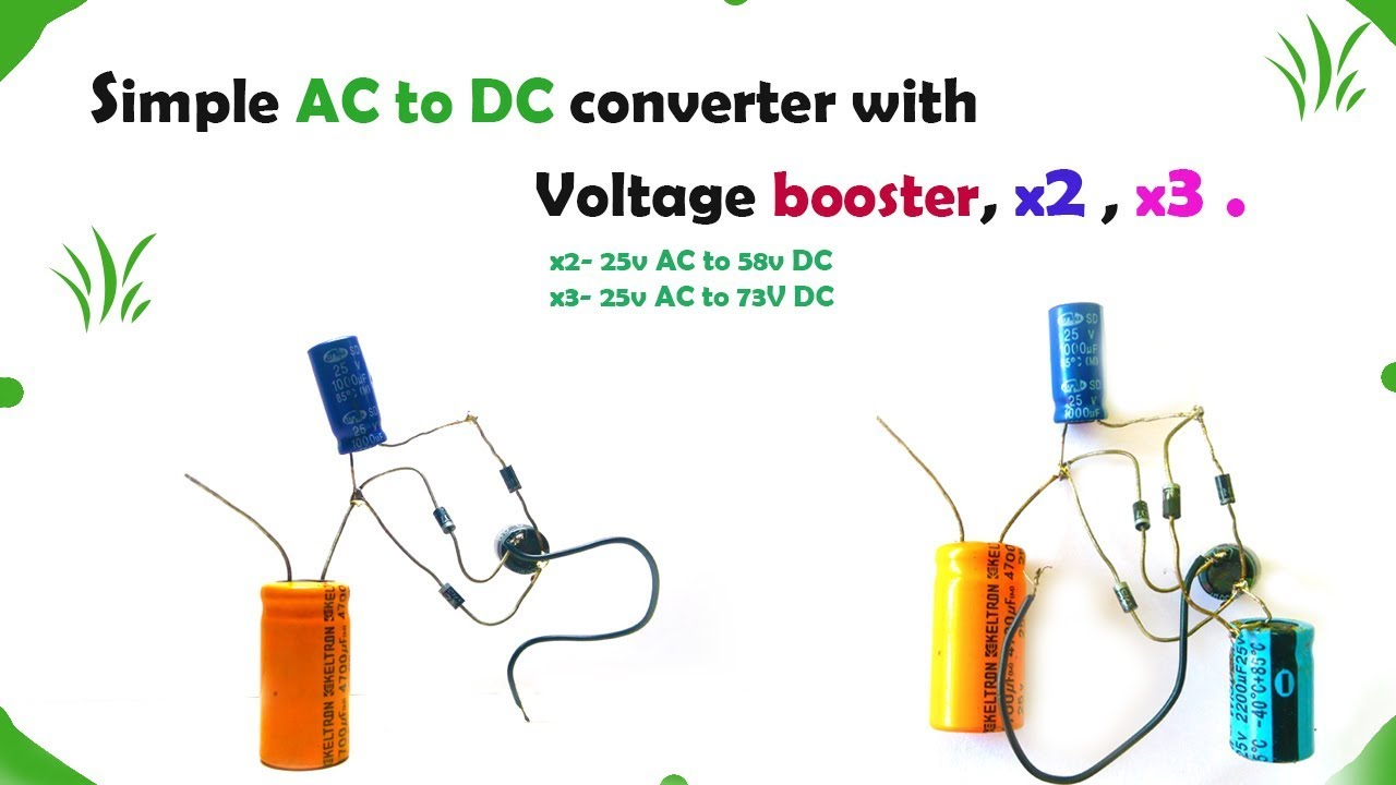 Diy Simple Ac To Dc Boost Converter Youtube Circuit