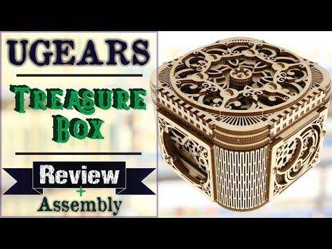 UGEARS: MECHANICAL MODEL - TREASURE BOX from Puzzle Master